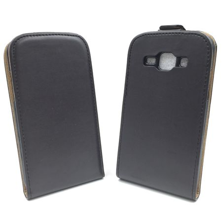 Handyhülle Tasche für Handy Samsung Galaxy J1 Schwarz – Bild 2