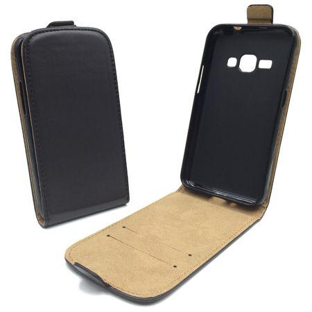 Handyhülle Tasche für Handy Samsung Galaxy J1 2016 Schwarz