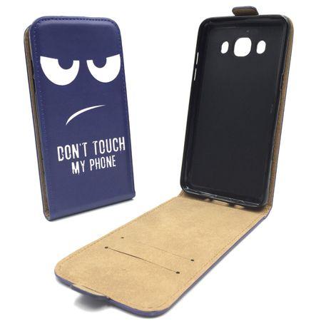 Handyhülle Tasche für Handy Samsung Galaxy J5 2016 Dont Touch my Phone