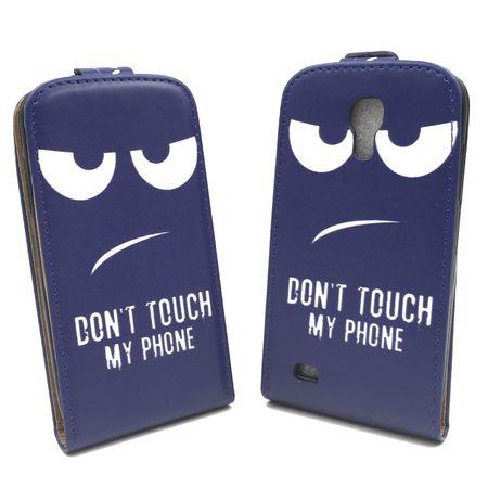 Handyhülle Tasche für Handy Samsung Galaxy S4 Mini Dont Touch my Phone – Bild 2