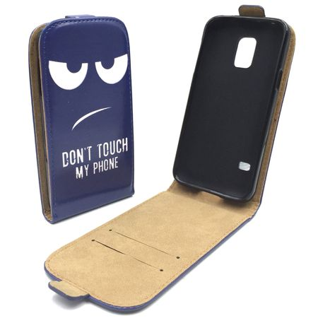 Handyhülle Tasche für Handy Samsung Galaxy S5 Mini Dont Touch my Phone