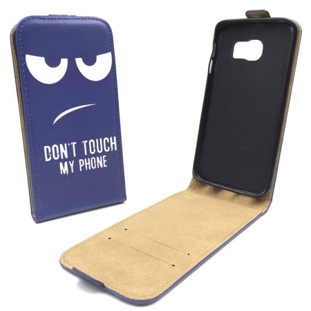 Handyhülle Tasche für Handy Samsung Galaxy S6 Edge+ Dont Touch my Phone