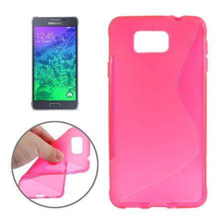Handyhülle TPU-Schutzhülle für Samsung Galaxy Alpha G850F Pink