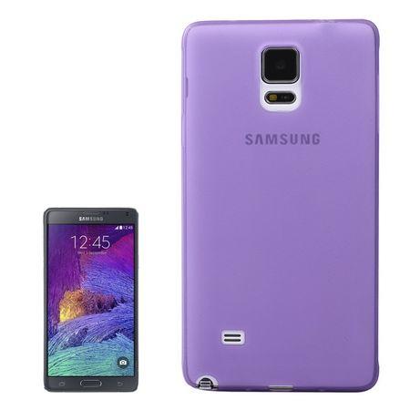 Schutzhülle Case Ultra Dünn 0,3mm für Handy Samsung Galaxy Note 4 SM-N910 Lila / Violett Transparent