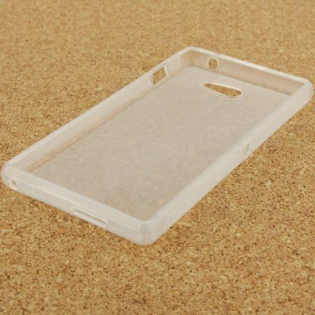Handyhülle TPU Tasche für Sony Xperia M2 S50h Transluzent Weiß – Bild 3