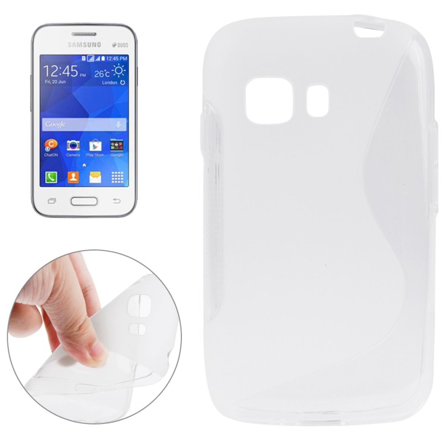 Handyhulle Tpu Schutzhulle Fur Samsung Galaxy Young 2 Sm G130hn Transparent