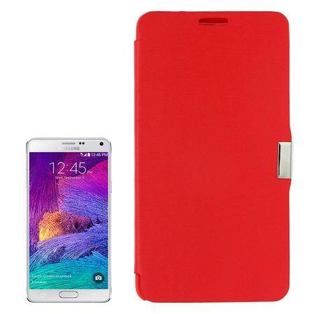 Handyhülle Tasche für Samsung Galaxy Note 4 SM-N910 Rot gebürstet