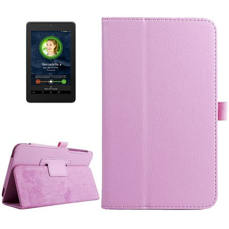 Schutzhülle Tablettasche (Flip Quer) für ASUS Fonepad 7 FE375CG 2014 Rosa