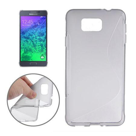 Handyhülle TPU-Schutzhülle für Samsung Galaxy Alpha G850F Grau