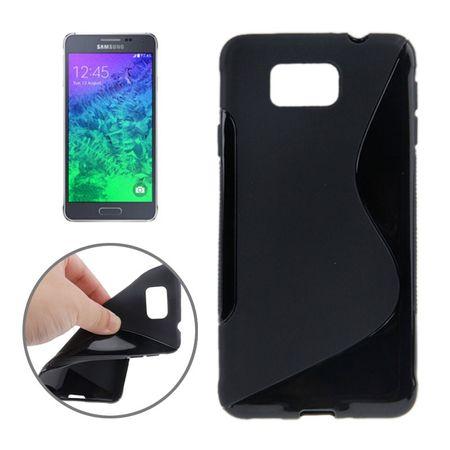 Handyhülle TPU-Schutzhülle für Samsung Galaxy Alpha G850F Schwarz