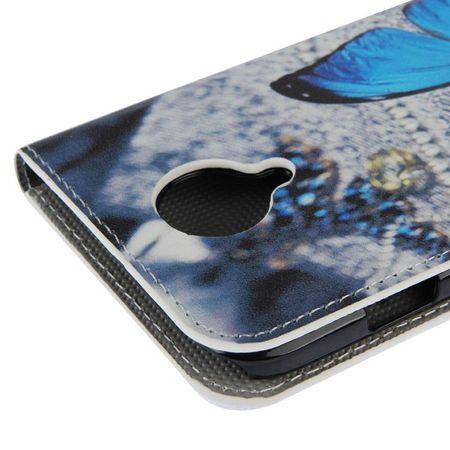Schutzhülle Handytasche (Flip Quer) für Handy Wiko Darknight Blauer Schmetterling – Bild 6