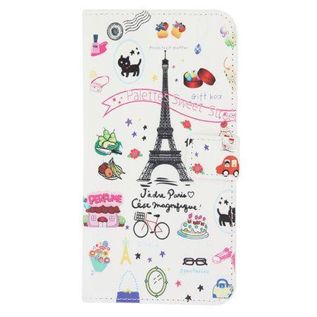 Schutzhülle Handytasche (Flip Quer) für Handy Wiko Darkmoon Eiffelturm – Bild 2