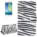 Schutzhülle Handytasche (Flip Quer) für Handy Samsung Galaxy A5 A500F Zebra Muster 001