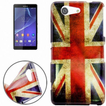 Schutzhülle Handytasche Etuis TPU für Handy Sony Xperia Z3 Compact Retro Fahne England UK