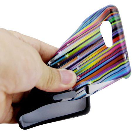 Schutzhülle Handytasche Etuis TPU für Handy Sony Xperia Z3 Compact Stars & Stripes – Bild 4
