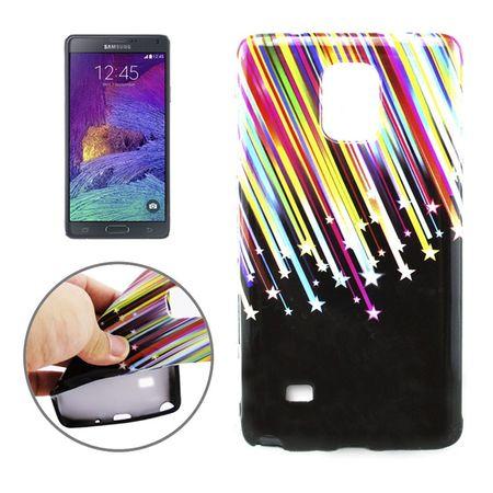Schutzhülle Handytasche Etuis TPU für Handy Samsung Galaxy Note 4 SM-N910F Stars & Stripes