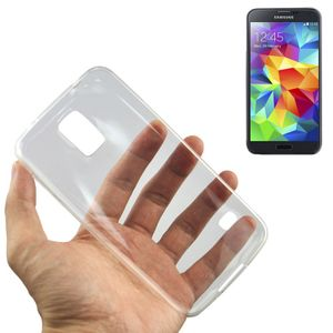 Samsung Galaxy S5 Mini Transparent Case Hülle Silikon