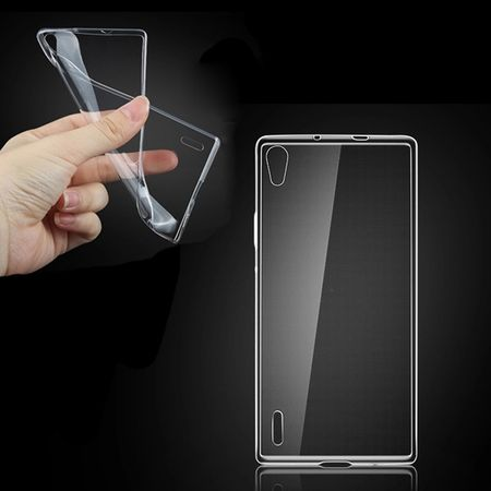 Huawei Ascend P7 Transparent Case Hülle Silikon