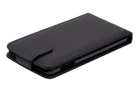 Handyhülle Schutzhülle Flip Handytasche für Samsung Galaxy A7 A700F Schwarz