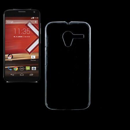 Schutzhülle Case Hard Cover Tasche Bumper für Handy Motorola Moto X Transparent