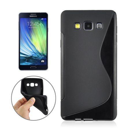 Schutzhülle Case TPU Cover für Handy Samsung Galaxy A7 A700F Schwarz