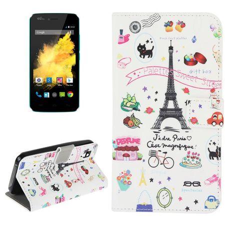 Handyhülle Tasche für Handy Wiko Sunset Eiffelturm Paris