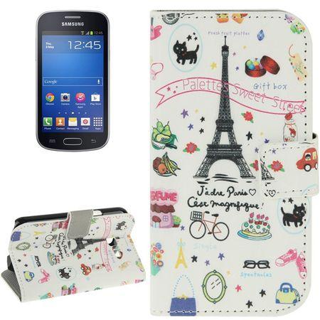 Handyhülle Tasche für Handy Samsung Galaxy Trend Lite Paris Eiffelturm