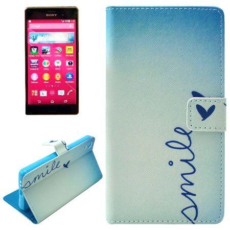 Handyhülle Tasche für Handy Sony Xperia Z4 Schriftzug Smile