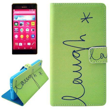 Handyhülle Tasche für Handy Sony Xperia Z4 Schriftzug