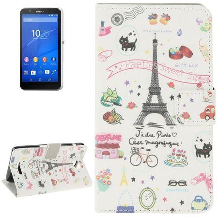 Handyhülle Tasche für Handy Sony Xperia E4 Paris Eiffelturm
