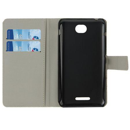 Handyhülle Tasche für Handy Sony Xperia E4 Dicke Eule auf Ast – Bild 4