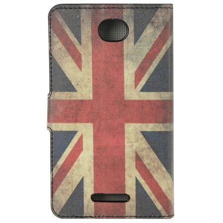 Handyhülle Tasche für Handy Sony Xperia E4 Retro Fahne England – Bild 3