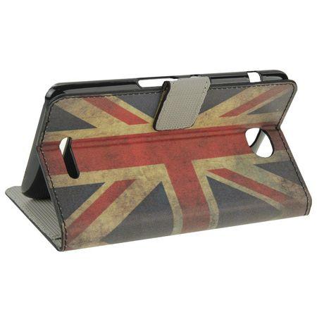 Handyhülle Tasche für Handy Sony Xperia E4 Retro Fahne England – Bild 6