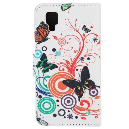 Handyhülle Tasche für Handy Wiko Sunset Bunte Schmetterlinge – Bild 3