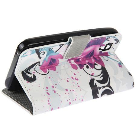 Handyhülle Tasche für Handy Wiko Sunset Blume Lila / Violett – Bild 5