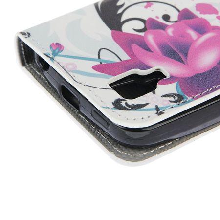 Handyhülle Tasche für Handy Wiko Sunset Blume Lila / Violett – Bild 6