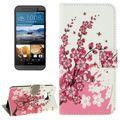 Handyhülle Tasche für Handy HTC One M9 Winterblume 001