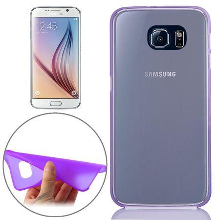 Schutzhülle Case Ultra Dünn 0,3mm für Handy Samsung Galaxy S6 Lila / Violett