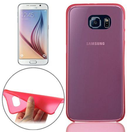 Schutzhülle Case Ultra Dünn 0,3mm für Handy Samsung Galaxy S6 Rot