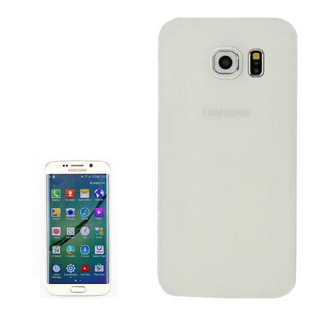 Schutzhülle Case Ultra Dünn 0,3mm für Handy Samsung Galaxy S6 Edge Weiß