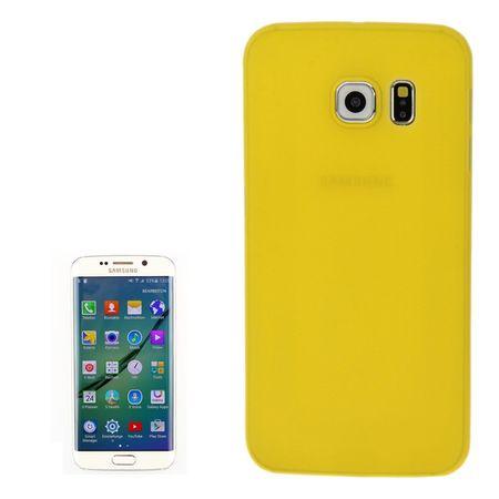 Schutzhülle Case Ultra Dünn 0,3mm für Handy Samsung Galaxy S6 Edge Gelb