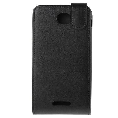 Handyhülle Schutztasche für Handy Sony Xperia E4 Flipcase Schwarz  – Bild 3