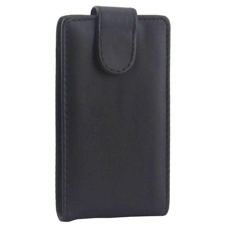Handyhülle Schutztasche für Handy Microsoft Lumia 532 Flipcase Schwarz  – Bild 3