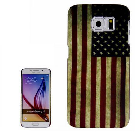 Schutzhülle Hard Case für Handy Samsung Galaxy S6 SM-G920F Motiv Retro Fahne USA