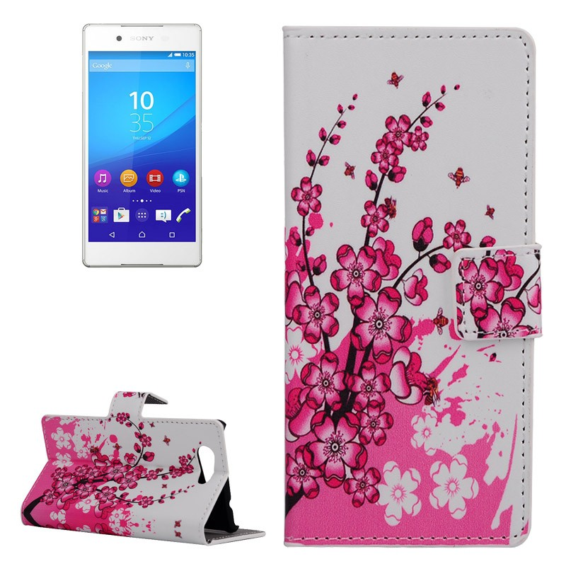 handyh lle tasche f r handy sony xperia z4 compact winterblume. Black Bedroom Furniture Sets. Home Design Ideas