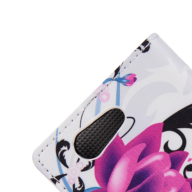 handyh lle tasche f r handy sony xperia z4 compact lotusblume. Black Bedroom Furniture Sets. Home Design Ideas
