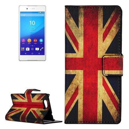 Handyhülle Tasche für Handy Sony Xperia Z4 Compact Retro Fahne England / UK