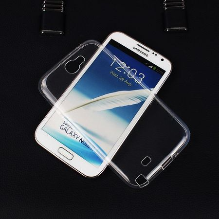Samsung Galaxy Note 2 N7100 Transparent Case Hülle Silikon