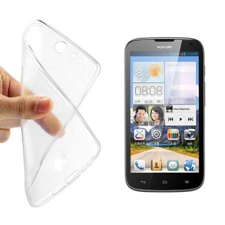 Ultra Dünn Schutzhülle Handytasche Etuis TPU für Handy Huawei G610s Transparent Klar