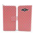 Handyhülle Tasche für Handy Samsung Galaxy J5 Polka Dot Rot 001